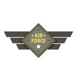 air force icon logo flat style vector image