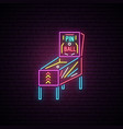 arcade game machine neon sign advertising design vector image vector image