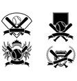 baseball emblem vector image