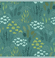 botanical seamless pattern design vector image