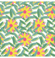 bright tropical seamless pattern background of vector image vector image
