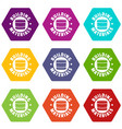 building material icons set 9 vector image vector image