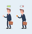 business and life energy businessman with low vector image vector image