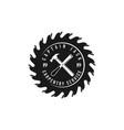 carpentry service logo logo design vector image vector image