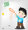 Catch money vector image vector image