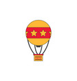circus watercolor hot air balloon vector image vector image