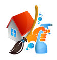 cleaning service at home vector image