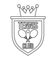 Coat of arms of tennis club icon outline style