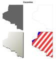 Coconino County Arizona outline map set vector image vector image