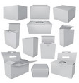 collection of blank boxes vector image vector image