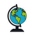 colorful image cartoon earth globe vector image vector image