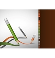 Colour Pencils Drawing Lines vector image