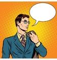 cool businessman pop art retro style vector image vector image