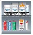 Digital silver cigarette pack mockup vector image vector image