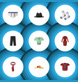 flat icon clothes set of clothes pants casual vector image