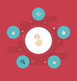 flat icons sensory two single tap and other vector image vector image