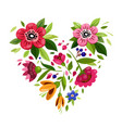 flower heart heart from flowers symbol of love vector image vector image