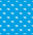 fret saw pattern seamless blue vector image vector image
