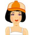 girl in cap vector image vector image