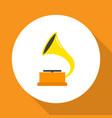 gramophone icon flat symbol premium quality vector image vector image