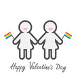Happy Valentines Day Love card Gay marriage Pride vector image vector image