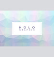 holographic white abstract background vector image vector image