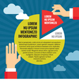 Human Hands with Pie Chart - Infographic Concept vector image vector image