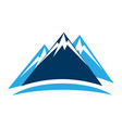 ice capped mountain icon vector image vector image