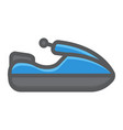 jet ski filled outline icon transport and vehicle vector image vector image