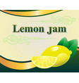 lemon jam label design template vector image vector image