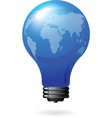 light bulb with world map vector image vector image