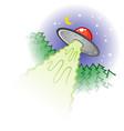 lying saucer cartoon vector image vector image