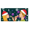 Man and woman drinking champagne brotherhood vector image
