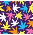 Marihuana ganja weed seamless pattern vector image vector image