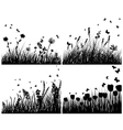 meadow set vector image