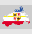 mecklenburg western pomerania map with flag vector image vector image