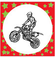 motocross rider on a motorcycle jumping vector image vector image