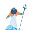 poseidon or neptune greek god bearded man in vector image vector image
