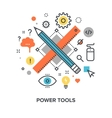 power tools concept vector image vector image