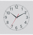realistic classic black round wall clock icon vector image