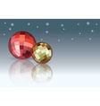 Red and yellow Christmas Balls vector image