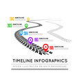 road way design infographics tire tracks timeline vector image