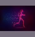 runninggirl vector image vector image
