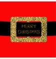 Santa Claus Coat with gold glitter belt Merry vector image vector image
