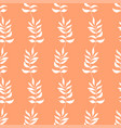 seamless pattern of white autumn leaves on orange vector image vector image