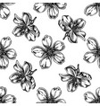 seamless pattern with black and white almond vector image vector image