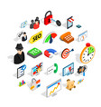 seo help icons set isometric style vector image vector image