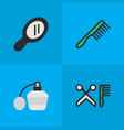 set of simple shop icons vector image