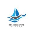 ship logo template icon design vector image vector image