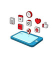 smartphone 3d isometric view vector image vector image